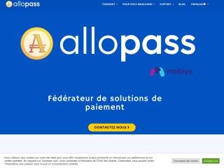 Capture d'écran pour allopass.com