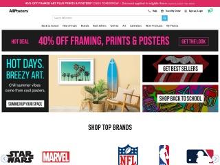 Screenshot do site allposters.pt