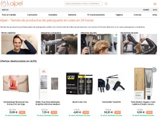 Captura de pantalla para alpel.es