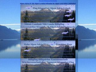 Screenshot der Website alpen-adria.at
