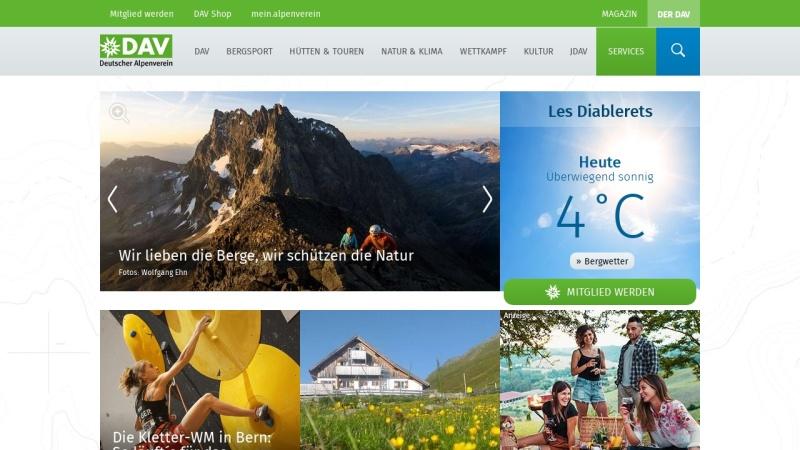 www.alpenverein.de Vorschau, Deutscher Alpenverein