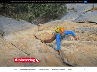 Screenshot der Website alpinverlag.at