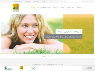 Screenshot der Website altstoffsammelzentrum.at