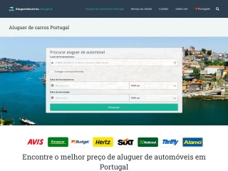 Screenshot do site aluguerdecarrosportugal.pt
