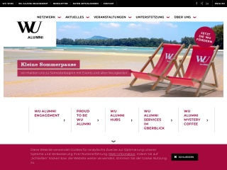 Screenshot der Website alumni.at