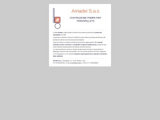 screenshot amadei.it