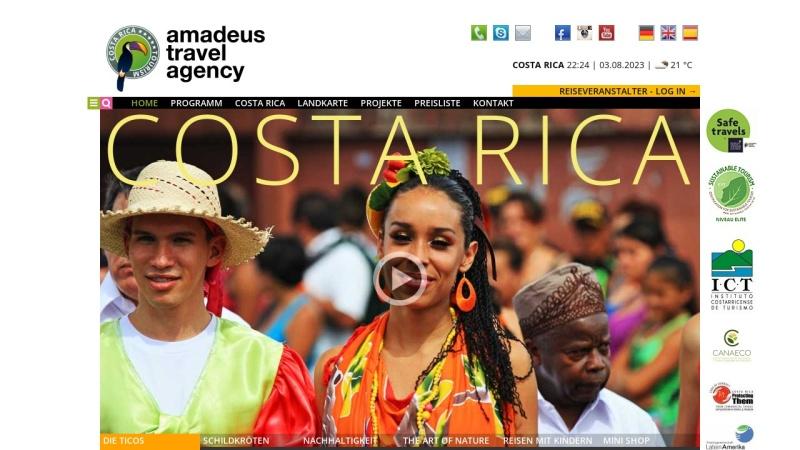 www.amadeus.co.cr Vorschau, Amadeus Travel