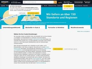 Screenshot der Website amazon.de