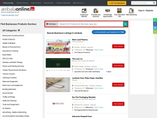Screenshot for ambalaonline.in