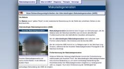 www.amd-fruehdiagnose.de Vorschau, Altersbedingte Makuladegeneration (AMD)