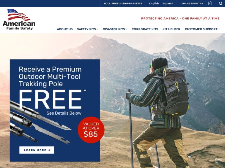 American Family Safety-Get 5% Off the 4-Person 72-Hour Food Supply  When You Sign Up for the Newsletter