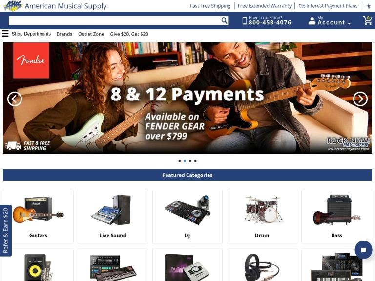 American Musical Supply screenshot