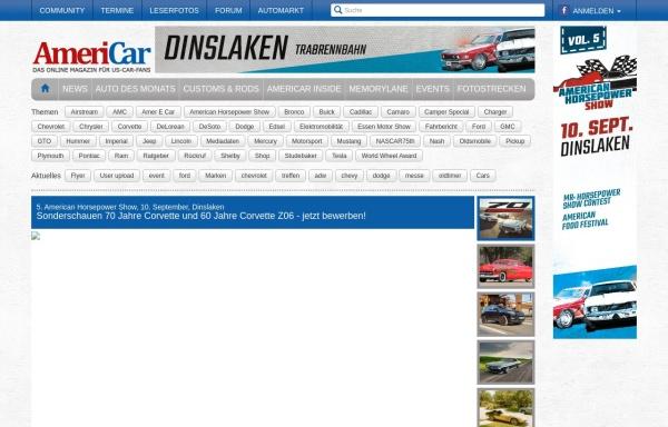 Vorschau von www.americar.de, Americar.de