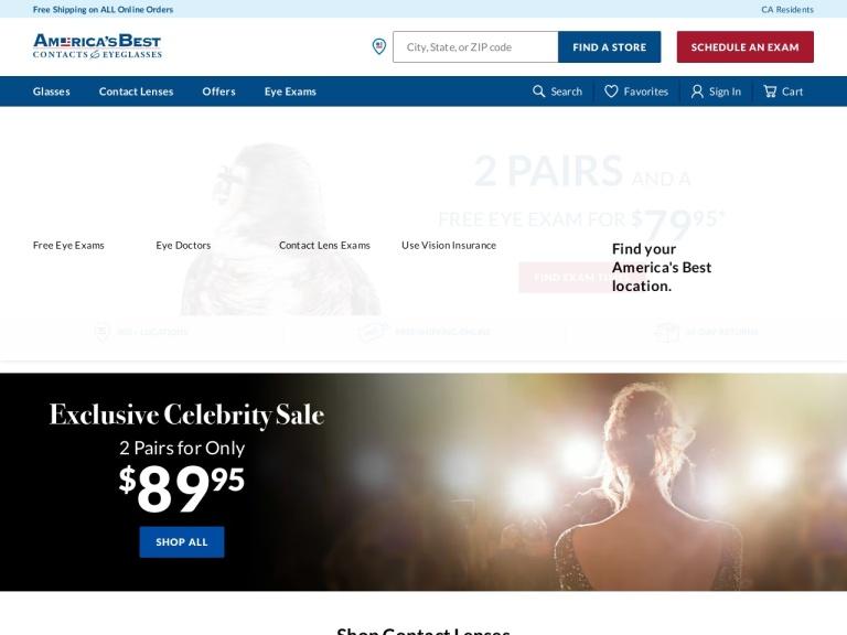 America's Best Contacts & Eyeglasses screenshot
