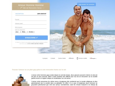AmourHommeHomme.com : rencontre entre hommes