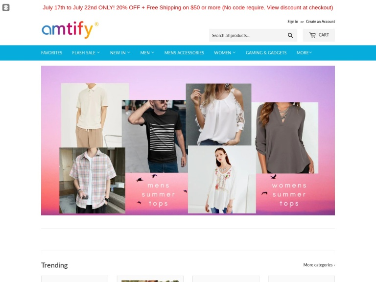 amtify ecommerce llc screenshot