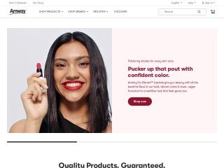 Screenshot der Website amway.com