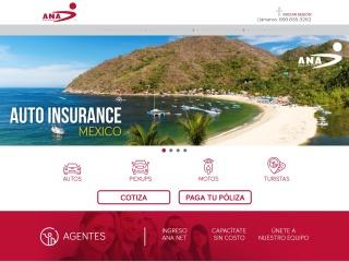 Captura de pantalla para anaseguros.com.mx