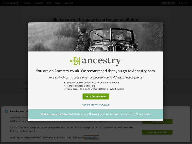 Ancestry.co.uk Coupon Codes