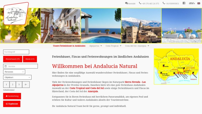 www.andalucianatural.de Vorschau, Andalucia Natural