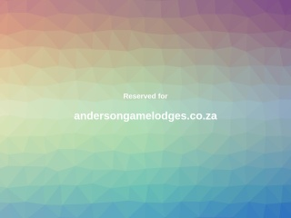 Screenshot for andersongamelodges.co.za