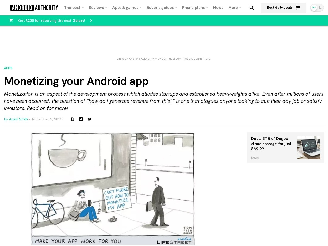 Monetizing your Android app