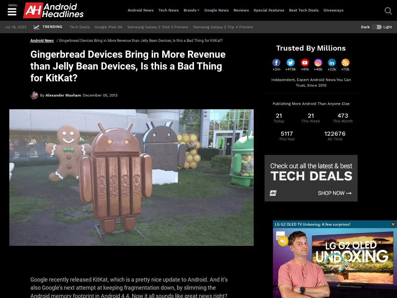 Gingerbread Devices Bring in More Revenue than Jelly Bean Devices, Is this a …