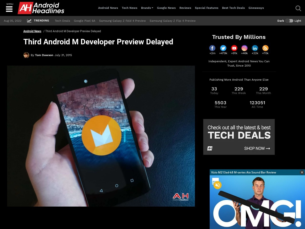Third Android M Developer Preview Delayed