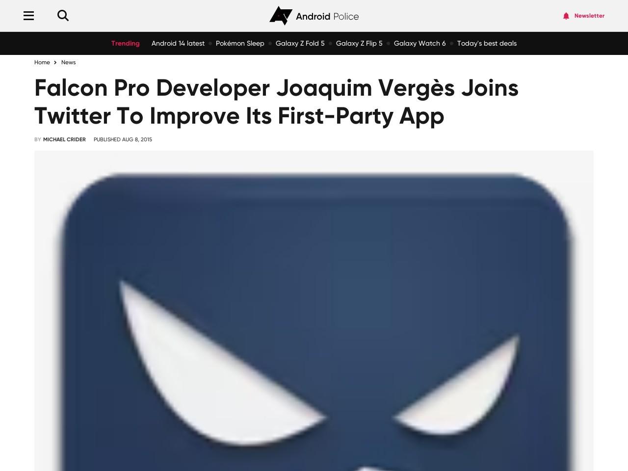 Falcon Pro Developer Joaquim Vergès Joins Twitter To …