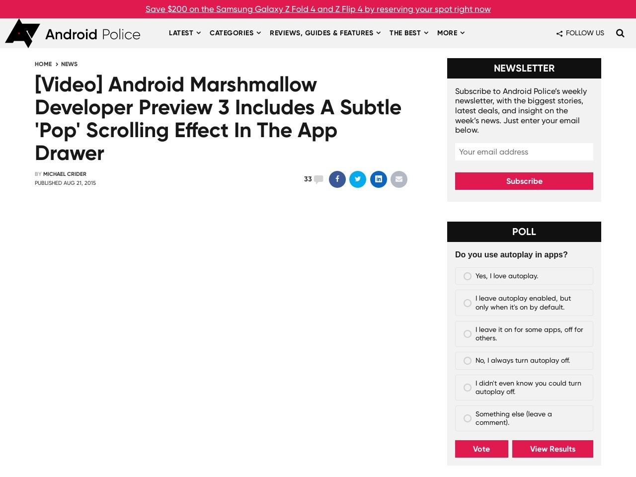 [Video] Android Marshmallow Developer Preview 3 Includes …