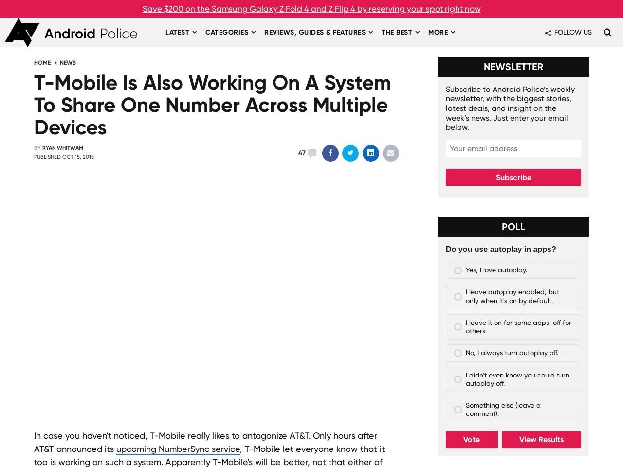 T-Mobile Is Also Working On A System To Share One …