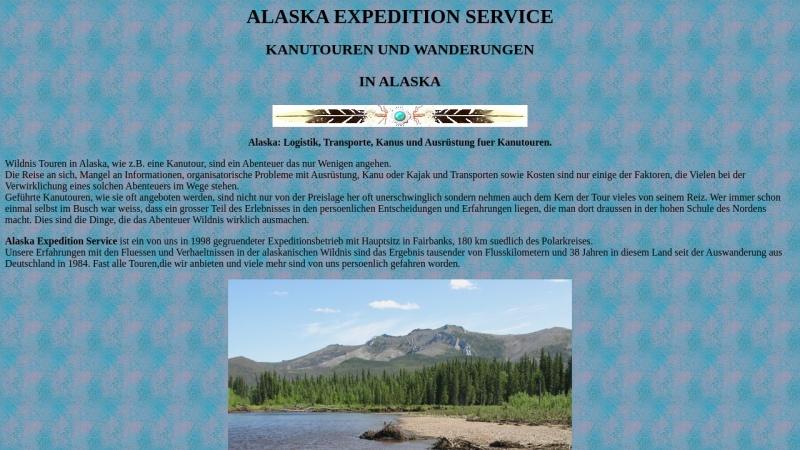 www.angelfire.com Vorschau, Alaska Expedition Service, Fairbanks