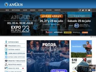 Captura de pantalla para angus.org.ar