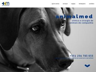 Screenshot do site animalmed.pt