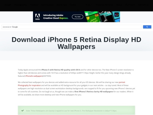 Download iPhone 5 Retina Display HD Wallpapers | AnimHuT