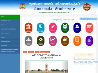 Screenshot for annamalaiuniversity.ac.in