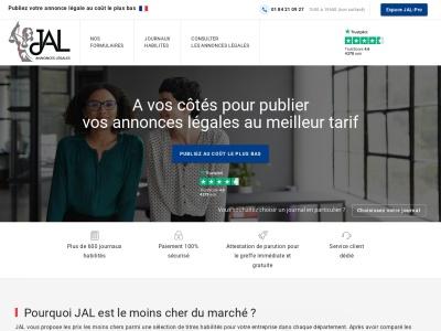 Journal Annonce Légale : publication des annonces légales