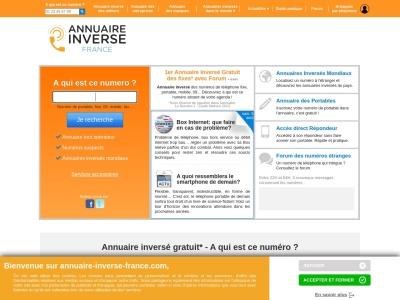 Annuaire inversé : Annuaire-Inverse-France.com