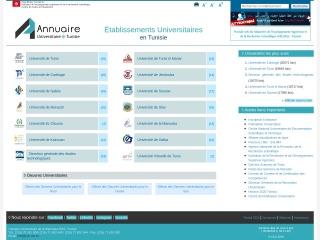 Capture d'écran pour annuaire.rnu.tn