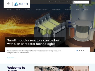 Screenshot for ansto.gov.au