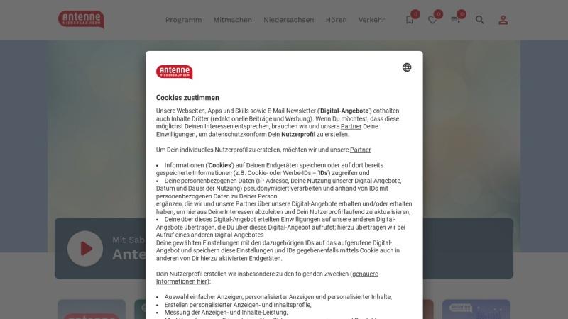 www.antenne.com Vorschau, Hit-Radio Antenne - Antenne Niedersachsen GmbH & Co.