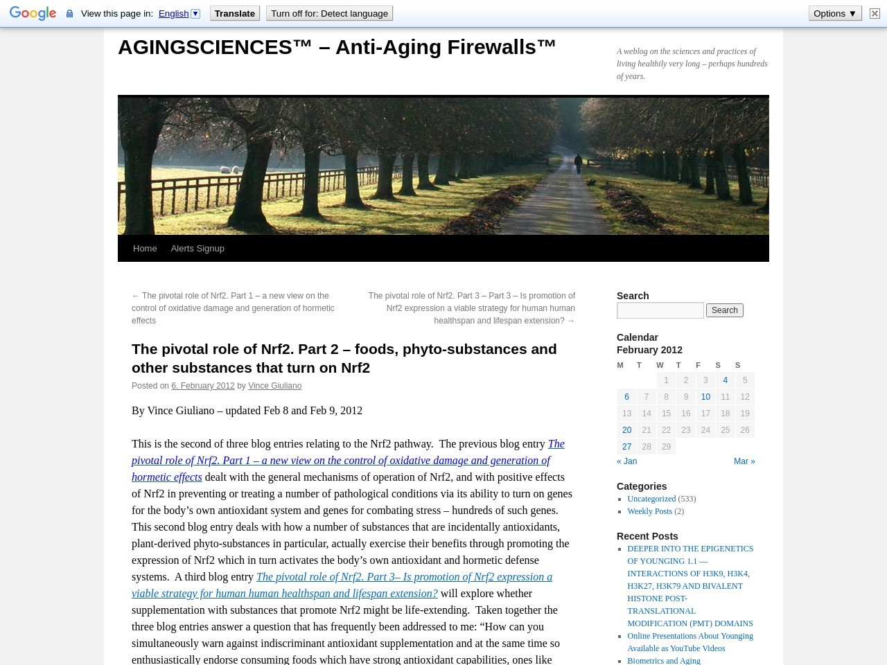 The pivotal role of Nrf2. Part 2 – AGING SCIENCES – Anti …