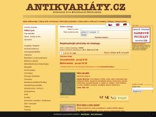 Snímek stránek pro antikvariaty.cz