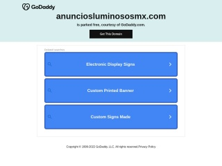 Captura de pantalla para anunciosluminososmx.com