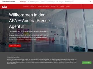 Screenshot der Website apa.at