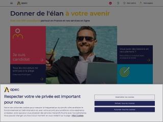 Capture d'écran pour apec.fr