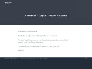 Screenshot der Website apfelzone.at
