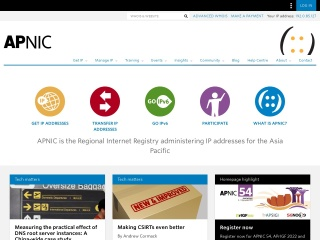 Screenshot for apnic.net