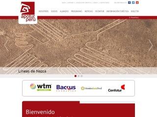 Captura de pantalla para apoturperu.org