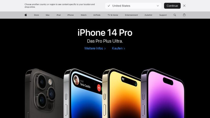 www.apple.com Vorschau, Apple Inc.
